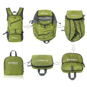 ECEEN Solar Powered Hiking Daypack - fold up