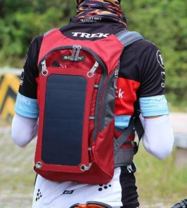 solar backpack for biking
