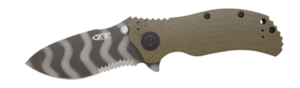 Zero Tolerance ZT0301ST Ranger Green Folder Knife with SpeedSafe and Partial Serration