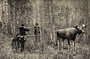 old moose hunting equipment
