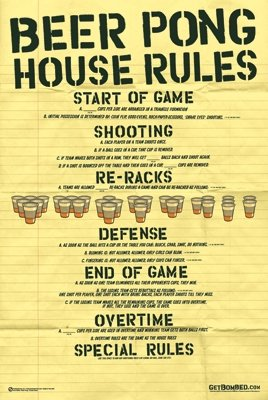 Beer Pong House Rules