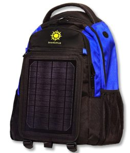 SolarGoPack 5W Solar Cell and 12k mAh Battery Backpack