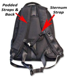 SolarGoPack 5W Solar Cell and 12k mAh Battery Backpack-back