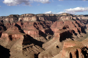 LOOKING NORTH ACROSS THE CANYON AT THE NORTH RIM, GRAND CANYON NATIONAL PARK.