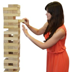 Life Size Jenga with Carrying case